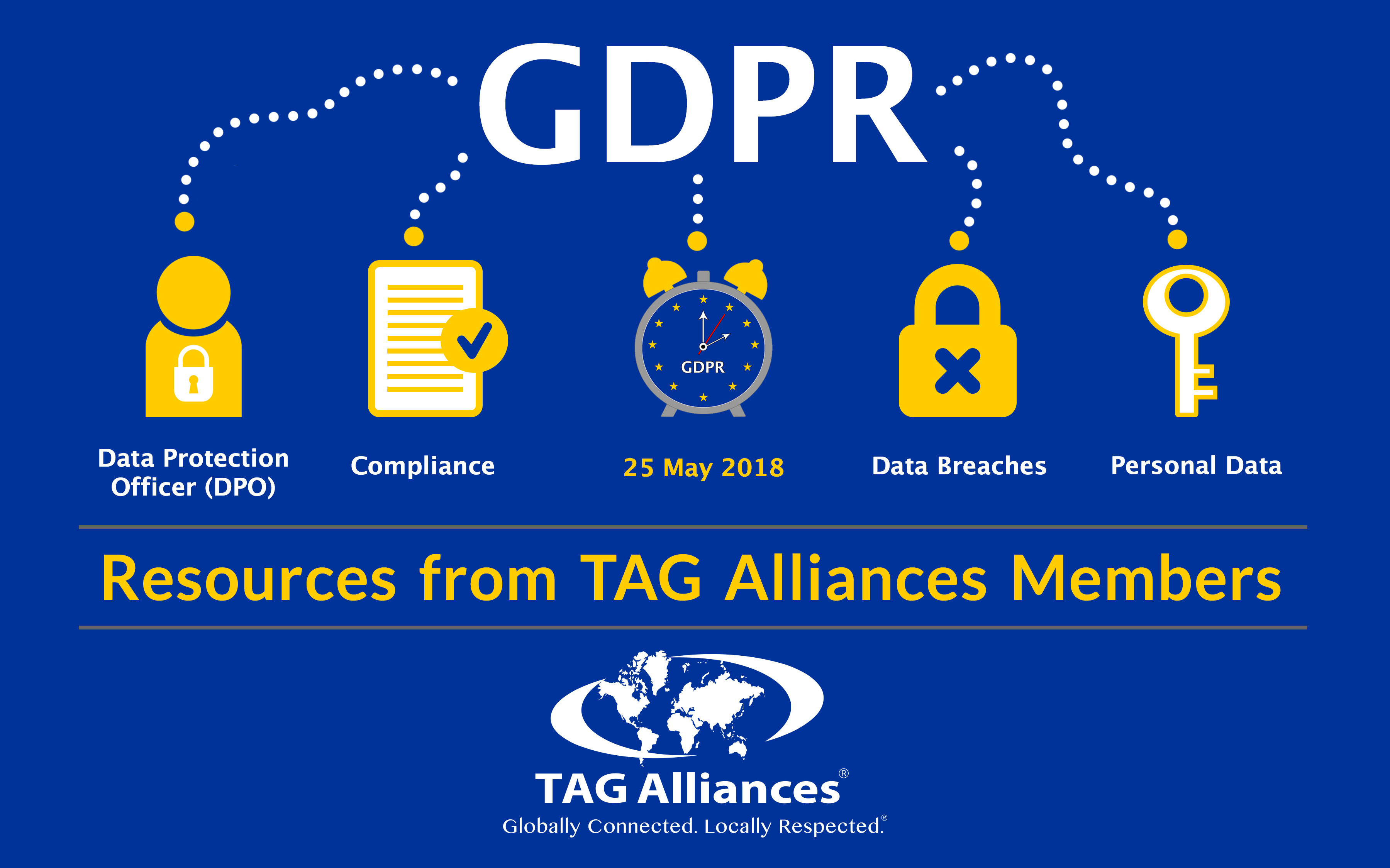 General Data Protection Regulation (GDPR) Concept Illustration - 25 May 2018 Dubai UAE abu Dhabi